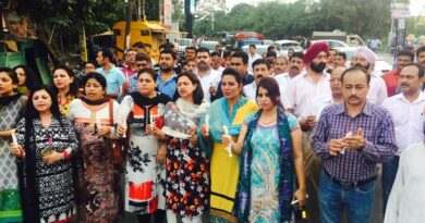 Candle March for Uri martyrs at Gandhi Nagar area of Jammu