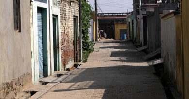 Deserted Look of a Border Village.