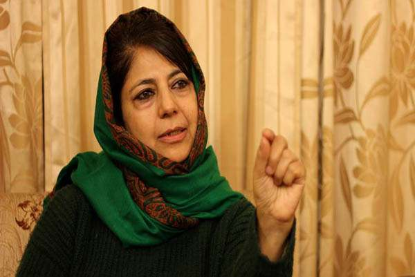 People's Democratic Party (PDP) leader Mehbooba Mufti. Express archive photo.