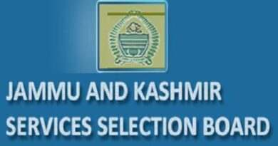 JKSSB to conduct document verification for GMC's posts and Migrants from next week