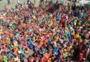 Agitating anganwari workers block City Road
