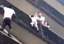 Video: 'Spiderman' of Paris climbs building to rescue boy hanging from balcony