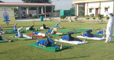 Powergrid Samba celebrates international yoga day