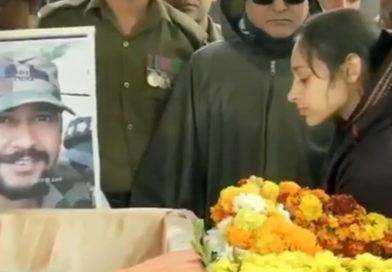 'I love you': Major's wife bids final farewell