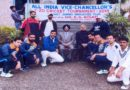 """VC,SKUAST-J flags off Employees Cricket Teamfor """"All India VC's T-20 Cricket Tournament"""""""
