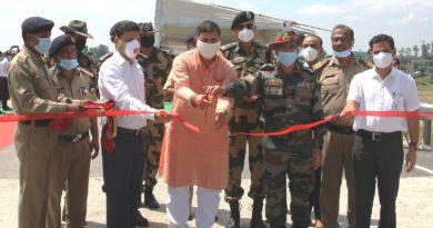Rajnath Singh e-inagaurates six strategic bridges in J&K